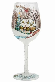 Lolita A White Christmas Wine Glass