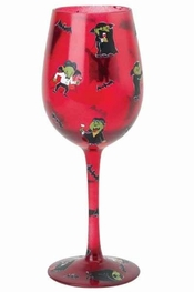 Lolita Bite Me Wine Glass