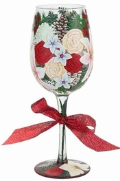 Lolita Holiday Bouquet, Too Wine Glass