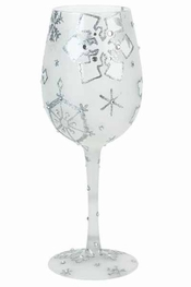 Lolita Silver Snowflake, Too Wine Glass
