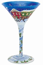 Lolita Sleigh Ride Martini Glass
