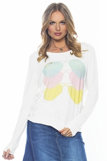 Peace Love World Aviator Oversized Sweater