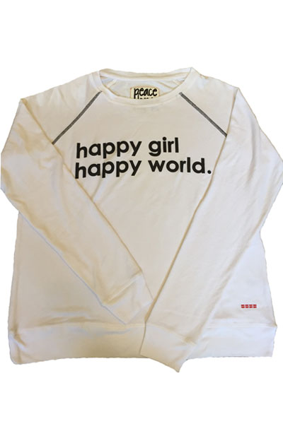 Peace Love World Happy Girl Happy World Oversized Comfy Top