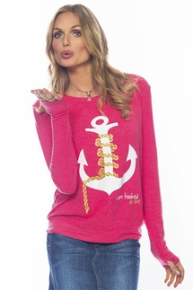Peace Love World Hooked on Love Oversized Comfy Sweater