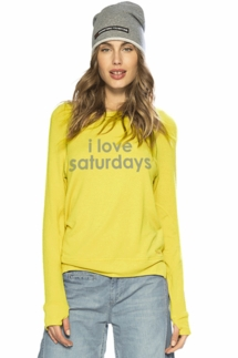 Peace Love World I Love Saturdays Comfy Oversized Top