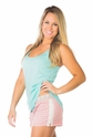PJ Salvage Aqua Tank and Pattern Play Short Pajama Set