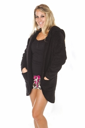 PJ Salvage Black Cozy Cardigan