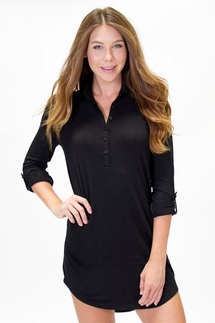 PJ Salvage Black Nightshirt