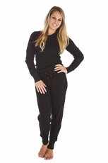 PJ Salvage Black Ski Jammies