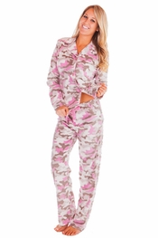 PJ Salvage Camo Polar Fleece Pajama Set