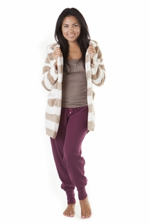 PJ Salvage Champagne Stripe Cozy Cardigan