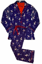 PJ Salvage Cheers Flannel Pajama Set
