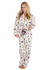 PJ Salvage Dog Day Flannel Pajama Set