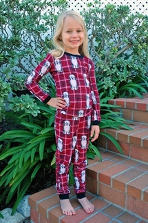 PJ Salvage Dog Gone Plaid Vintage Velour KIDS Pajamas