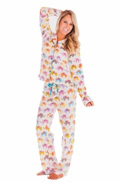 PJ Salvage Elephants Polar Fleece Pajama Set