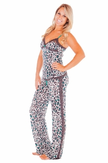 PJ Salvage Enchanted Emerald Leopard Cami and Pant