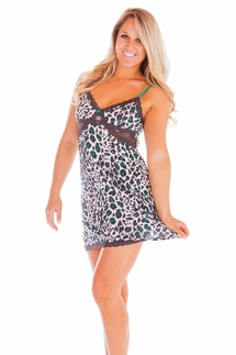 PJ Salvage Enchanted Emerald Leopard Chemise