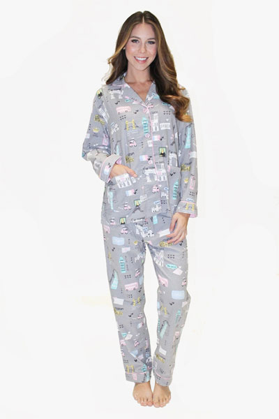 PJ Salvage European Travel Pajama Set