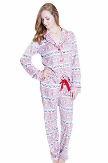 PJ Salvage Fair Isle Polar Fleece Pajama Set