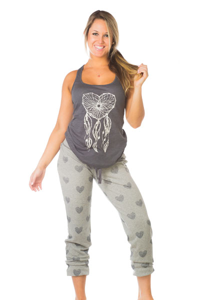 PJ Salvage Heart Tank and Sweat Pant