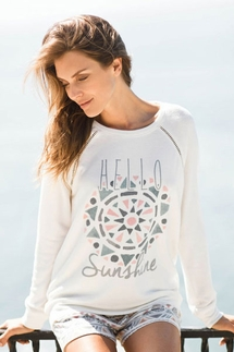 PJ Salvage Hello Sunshine Long Sleeve and Short Set