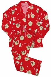 PJ Salvage Hot Chocolate Flannel Pajama Set