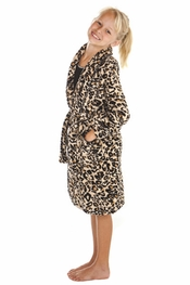 PJ Salvage Kids Leopard Robe