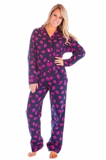 PJ Salvage Kiss Kiss Flannel Pajama Set