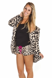 PJ Salvage Leopard Cozy Cardigan