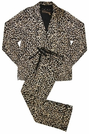 PJ Salvage Leopard Flannel Pajama Set