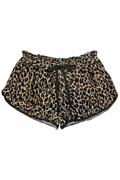 PJ Salvage Leopard Flannel Short