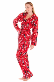 PJ Salvage Merry Wine Flannel Pajama Set
