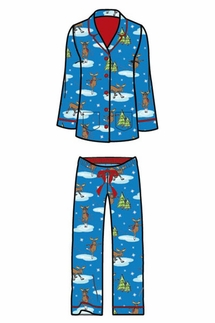 PJ Salvage Moose Flannel Pajama Set