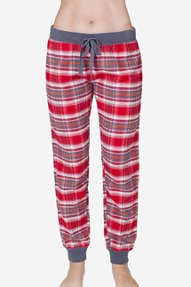 PJ Salvage Mountains Plaid Banded Pajama Pant