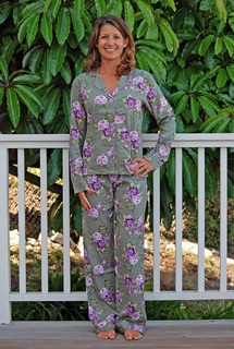 PJ Salvage Olive Outing Pajama Set