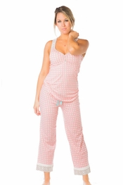 PJ Salvage Pattern Play Tank and Crop Pant Pajama Set