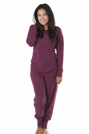 PJ Salvage Plum Ski Jammies