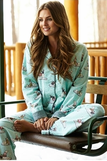 PJ Salvage Polar Bear Flannel Pajama Set