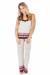 "PJ Salvage ""Pop of Pink"" Dot Cami and Pant"