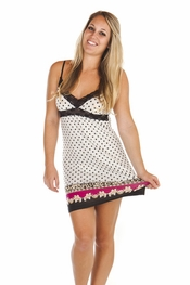 "PJ Salvage ""Pop of Pink"" Dot Chemise"