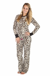 "PJ Salvage ""Pop of Pink"" Leopard Vintage Velour Pajama Set"