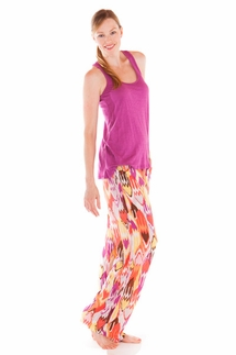 PJ Salvage Purple Tank and Ikat Pant