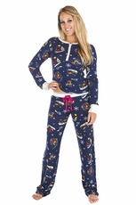 PJ Salvage Ski School Thermal Pajama Set