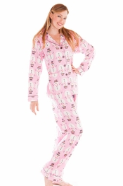 PJ Salvage Snowmen Flannel Pajama Set