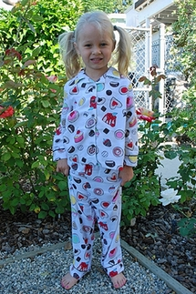 PJ Salvage Sweetie Pie Kids Flannel Pajamas