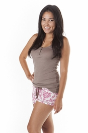 PJ Salvage Taupe Tank and Fancy That Rose Short