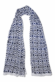 PJ Salvage True Blue Ikat Scarf