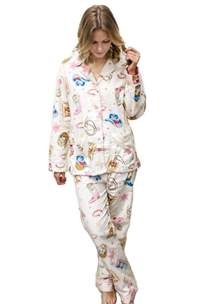 de2808535a47 PJ Salvage Wanted Flannel Pajama Set