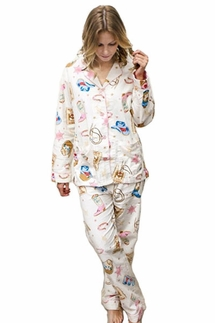PJ Salvage Wanted Flannel Pajama Set