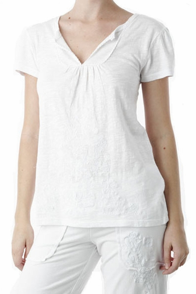 PJ Salvage White Top and Crop Pant